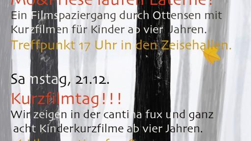 KURZFILMTAG mit Mo&Friese in der cantina fux & ganz