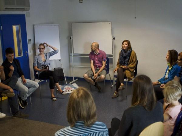 Workshop, Wir zeigen's Euch! beim Filmfest Wismar © Andros Schakau/Medienwerkstatt Wismar